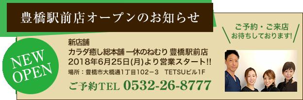 豊橋駅前店オープン